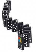 Curved Dominos