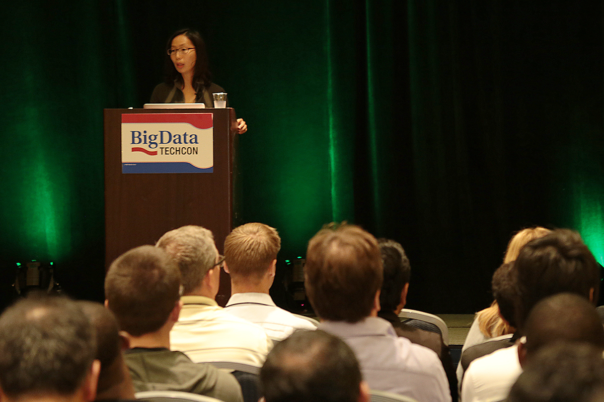 Gloria Lau gives her keynote at Big Data TechCon