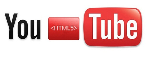 Youtube logo showing HTML5 logo