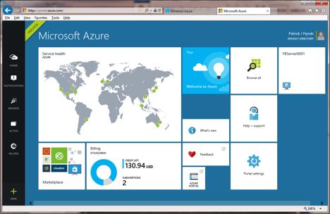 Figure 2: Windows 8-style Web interface.