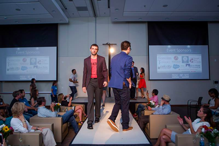 The developers hit the runway in RTP at Fashionforce 2015.