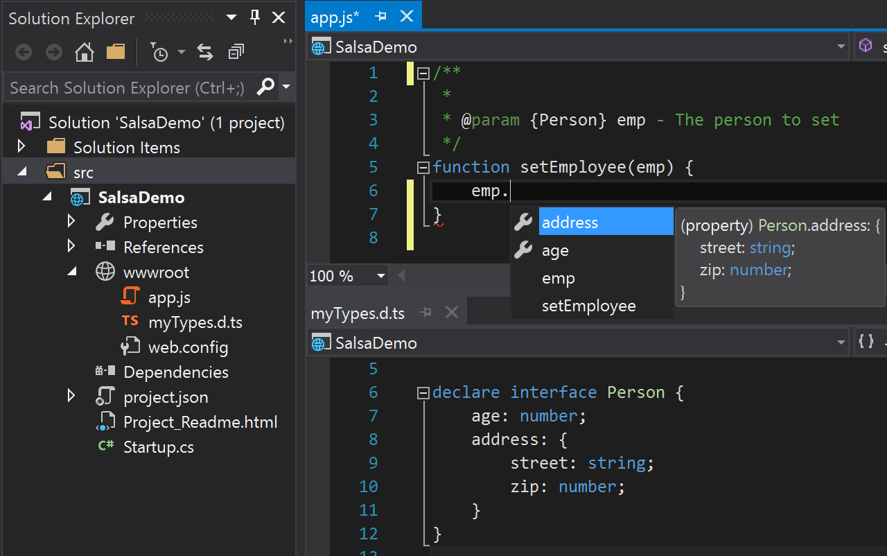 Microsoft previews new JavaScript language service, Salsa - SD Times