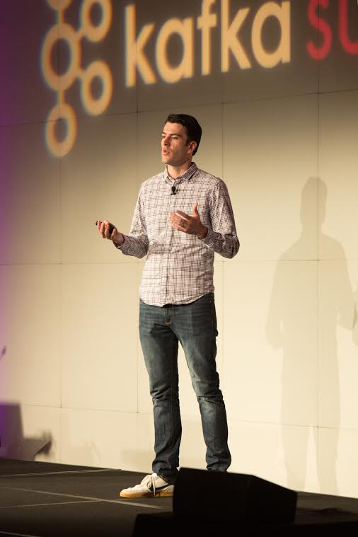 Jay Kreps speaking at the Kafka Summit