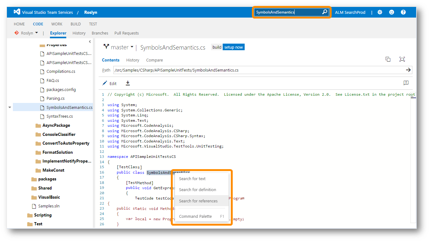 Code Search now available in Microsoft's Visual Studio Team