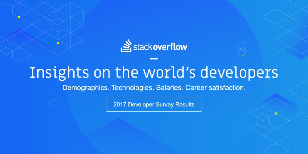 Stack Overflow Releases 2017 Developer Survey Results