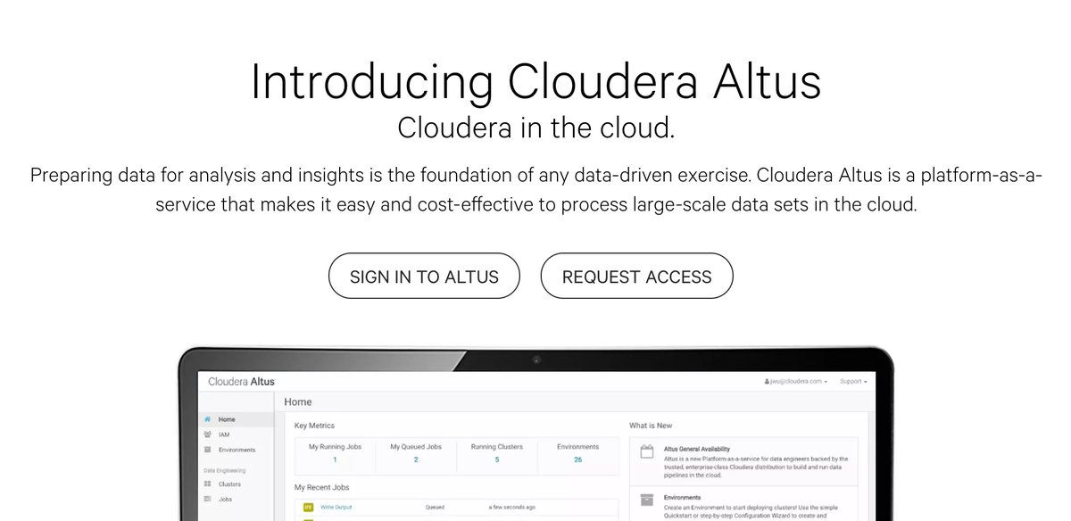 Cloudera introduces Altus, MapR's new Quick Start Solution, and