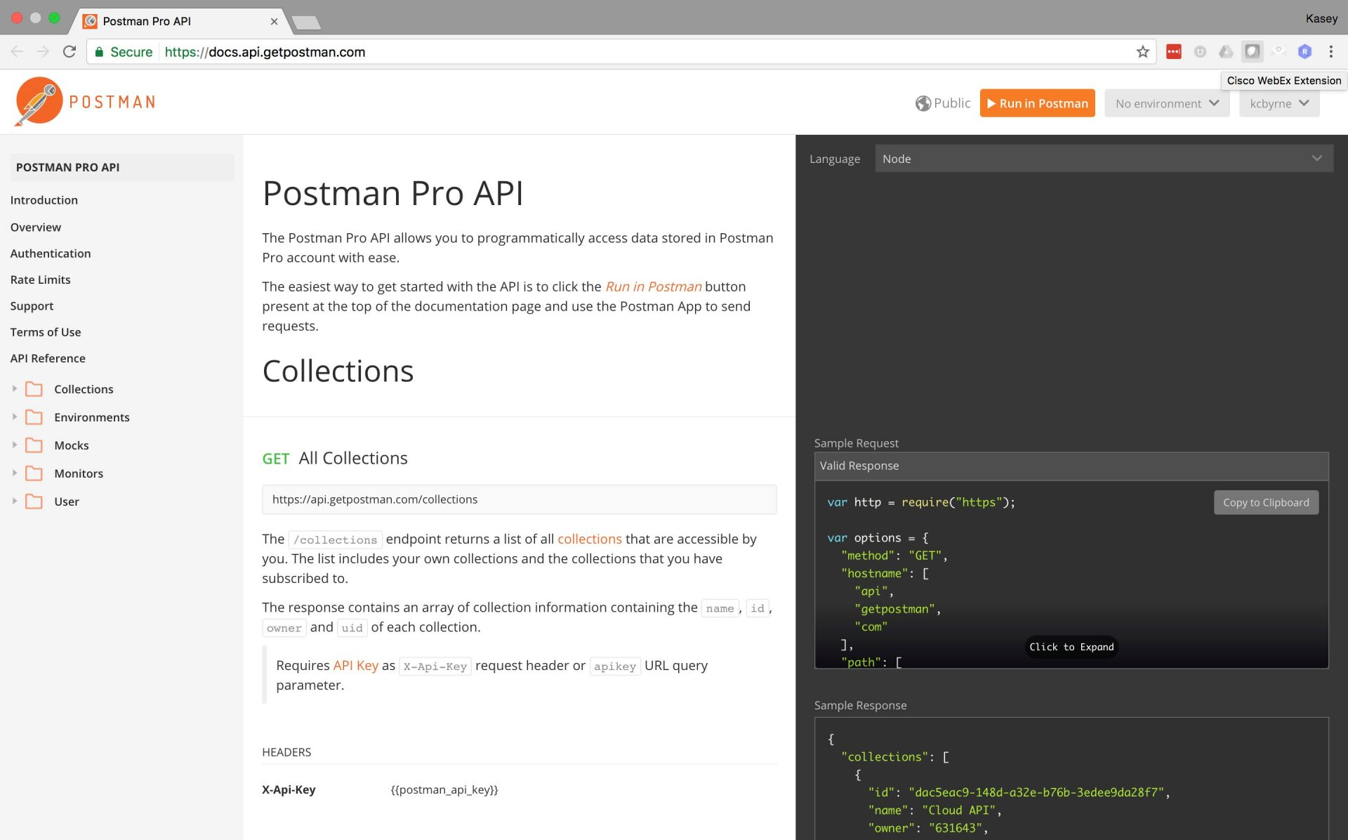 Postman Pro free features available for small projects