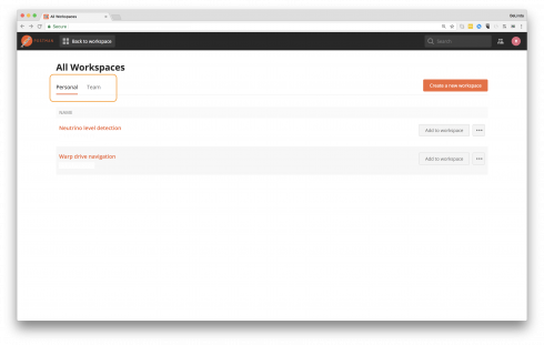 - WS select WS for list 490x311 - Postman 6.0 improves team collaboration with Workspaces
