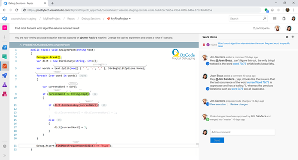 OzCode makes debugging available as a service