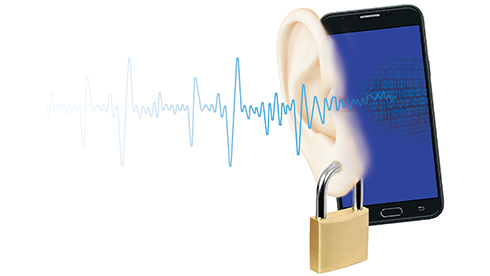 Sending encrypted data with sound