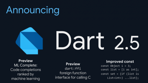 Google Developer Days: Dart 2 5 comes packed with new