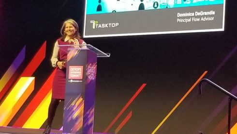 Tasktop's Dominica DeGrandis talking about moving from project to product teams