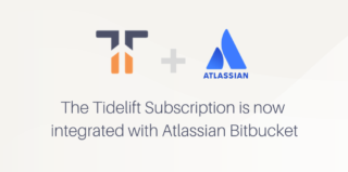 Tidelift and Atlassian logos