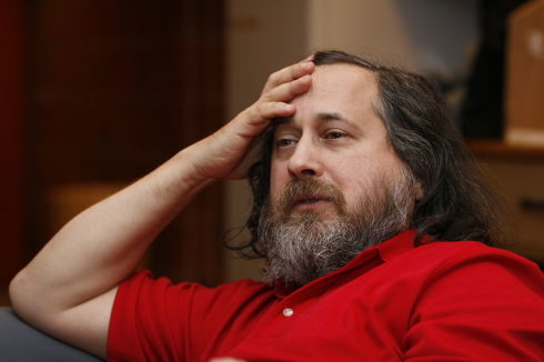 Richard Stallman, founder of the GNU project and free software advocate. Oslo, Norway, 23 February 2009