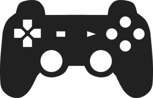 outline of a PS4 controller