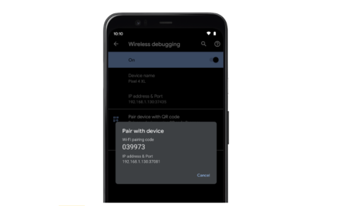 wireless debugging in Android 11 Developer Preview 3