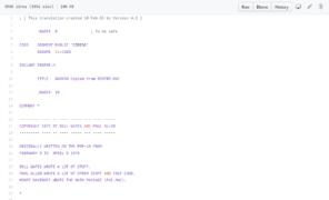 source code for GW-BASIC on GitHub
