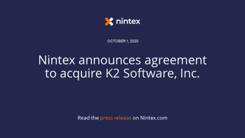 Nintex to acquire low-code process automation provider K2 Software