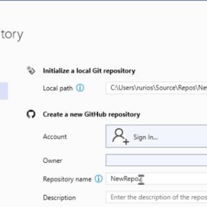 GitHub accounts in Visual Studio 2019