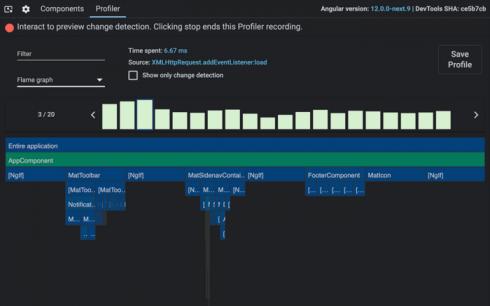 Angular DevTools Profiler