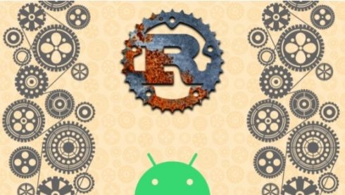 Rust and Android logos
