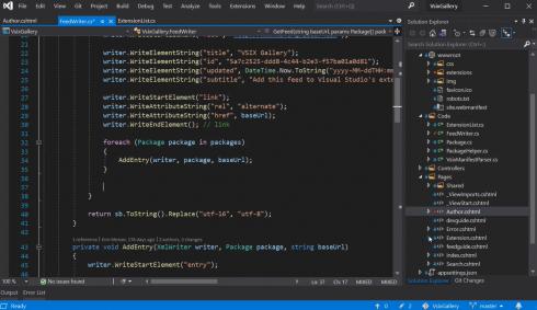 Visual Studio screenshot